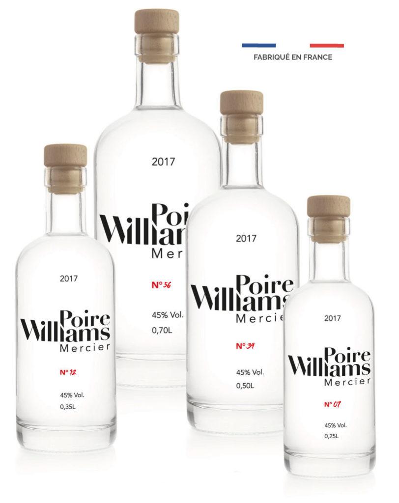 4 bouteilles poire mercier